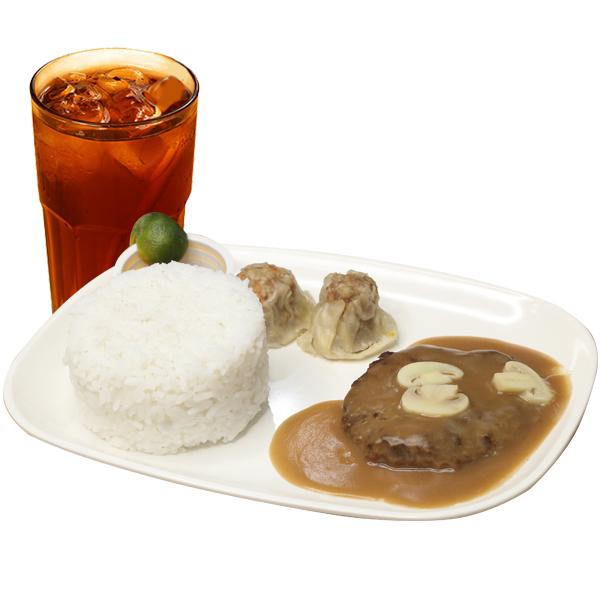 Siomai in Burgersteak Meal